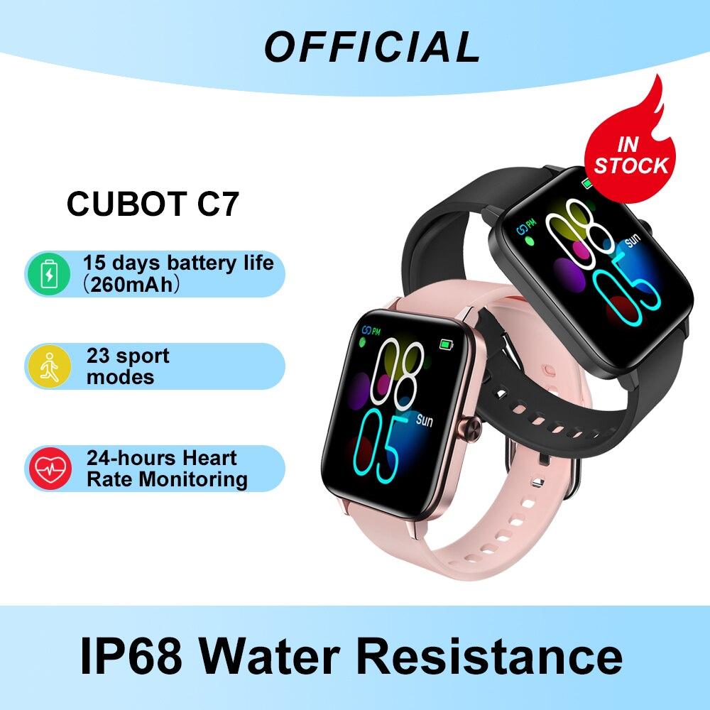 Cubot C7 IP68 مقاوم للماء SmartWatch رصد معدل ضربات القلب اللياقة البدنية ل أندرويد IOS الرياضة ساعة ذكية للرجال النساء ل Xiami آيفون
