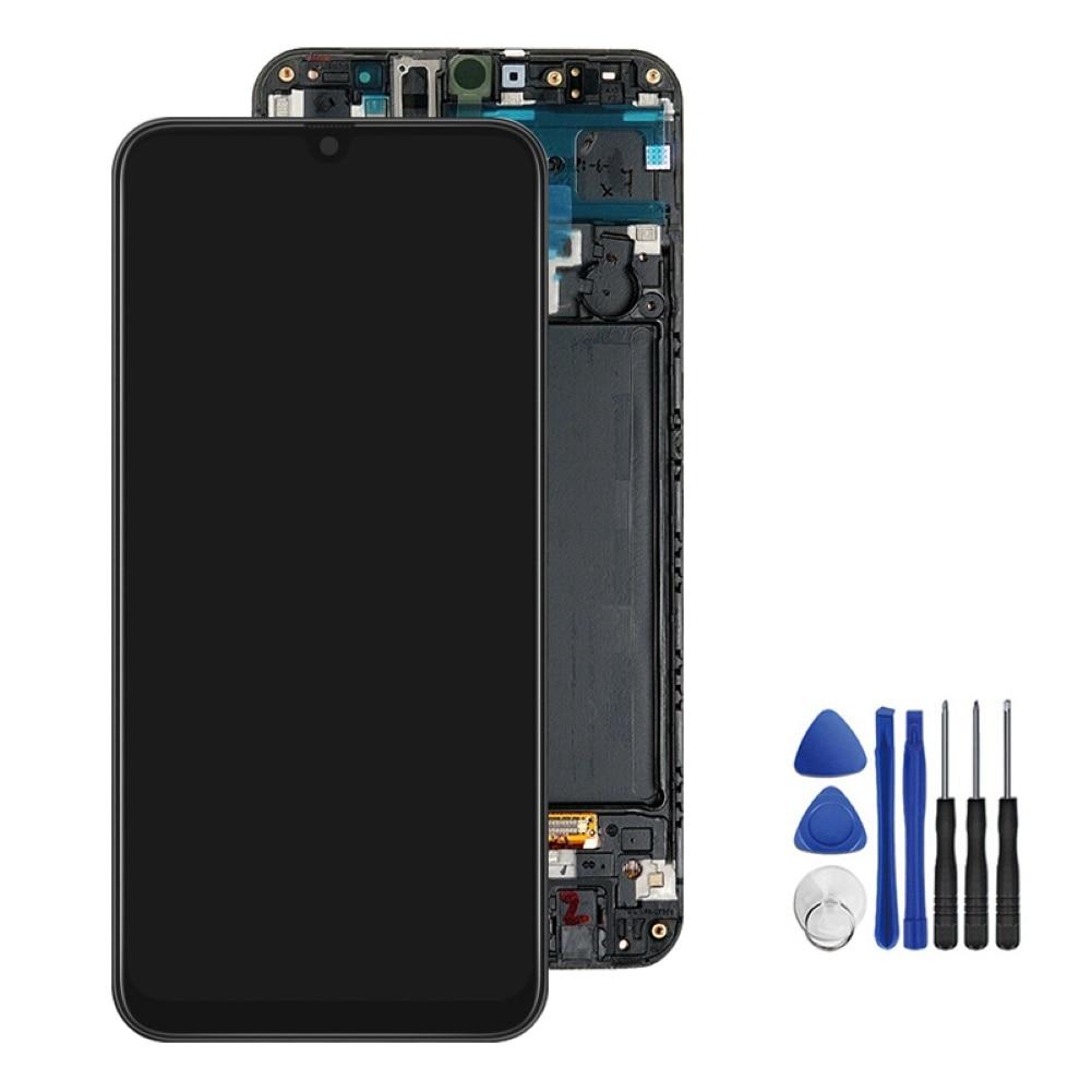 Tela amoled super para samsung galaxy, tela digitalizadora touchscreen de lcd para samsung galaxy a50 2019 a505f/ds a505f a505fd a505a para samsung