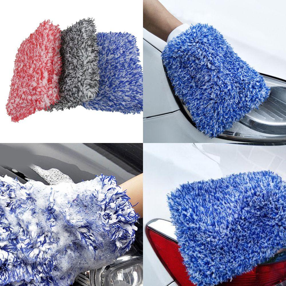 1pc Car Maximum Mitt High Density Auto Wash Cloth Ultra Super Absorbancy Car Sponge Plush Glove Microfiber Cleaning Towel