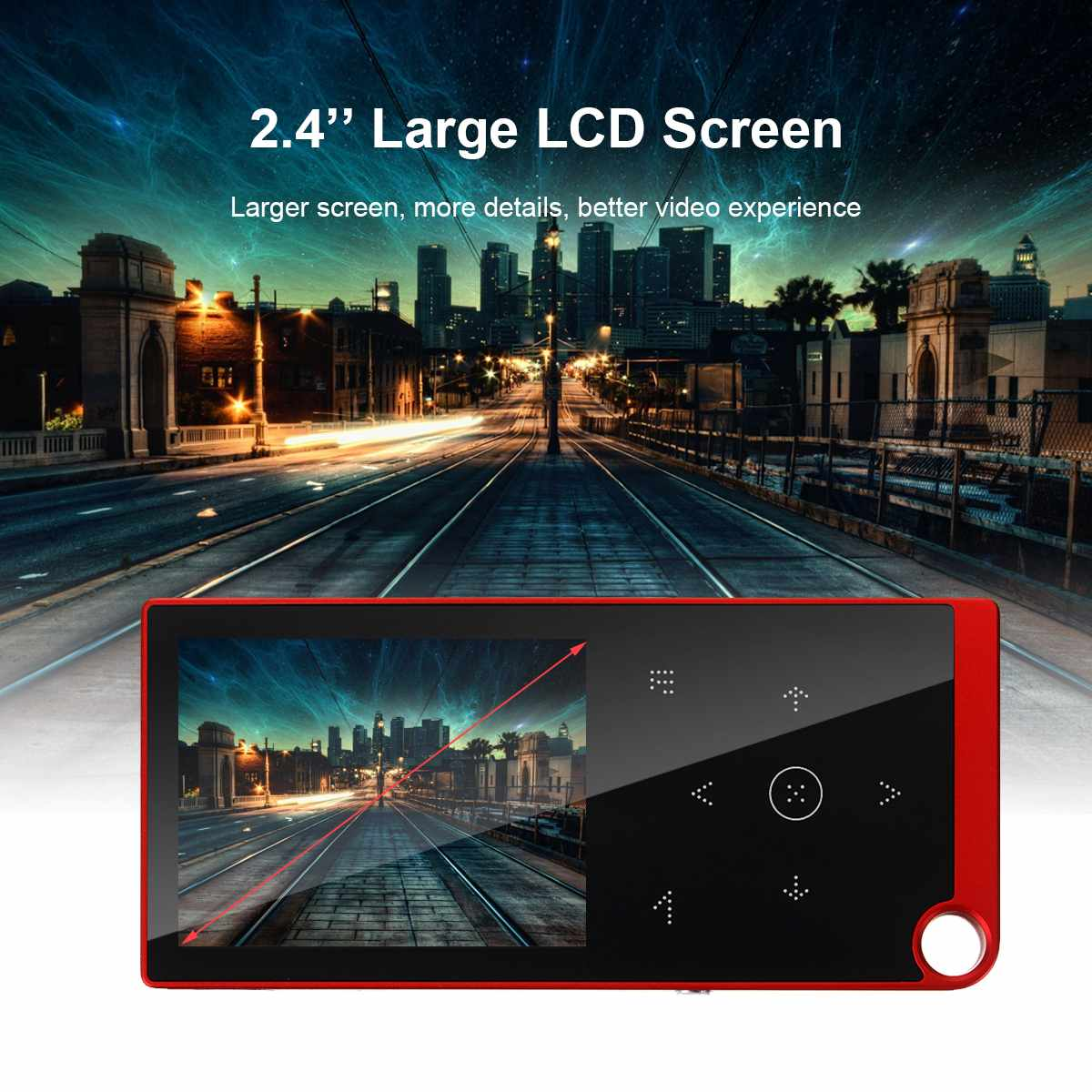 2.4 inches Screen bluetooth Portable MP3 MP 4 Players FM Radio E-book Voice Recorder Audio Video HiFi Music Player With Earphone enlarge