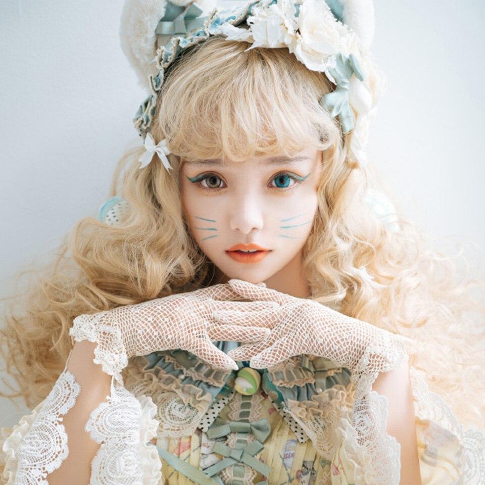 HOUYAN Peluca de cabello wavesinthetic de 26 pulgadas, pelucas personalizadas de Lolita para fiestas, pelucas para Mujeres Negras/blancas, Rubio Dorado, peluca de cabello azul