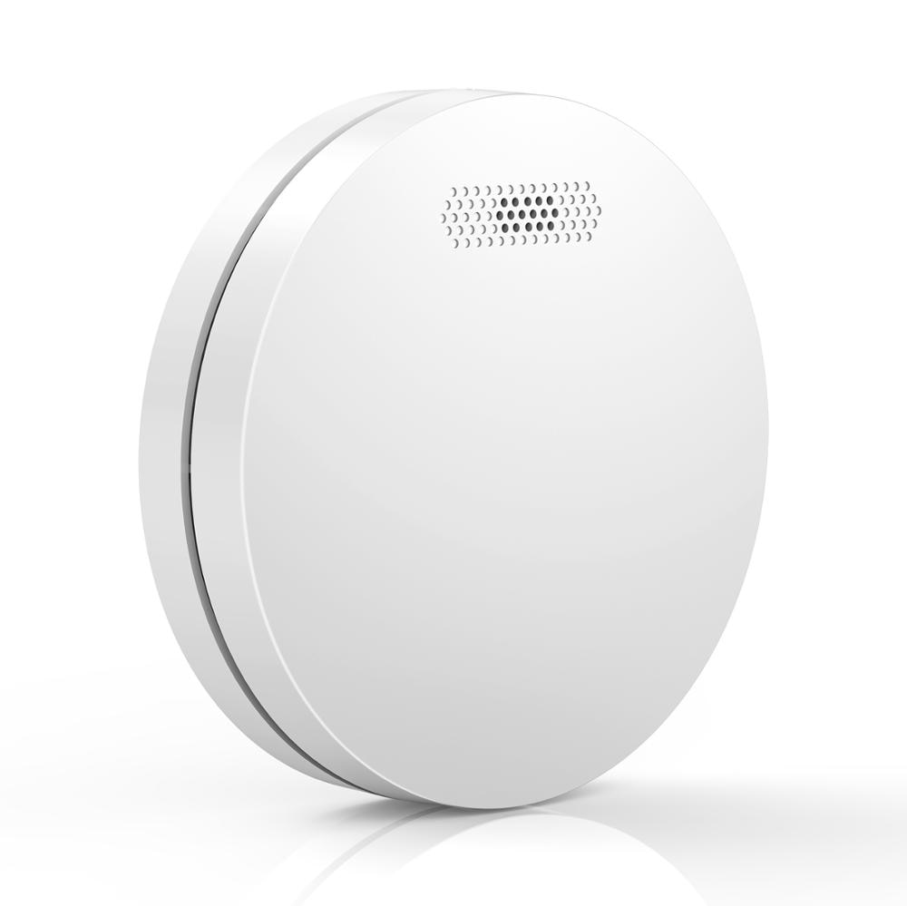 Ultra Thin Standalone Smoke Detector Sensor Home Security Photoelectric Rauchmelder Fire Alarm With CE Approval
