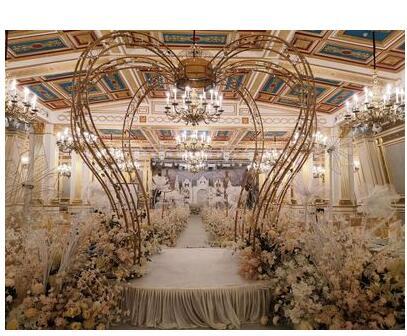 New wedding iron props crown wedding ceremony Pavilion Princess Pavilion wedding stage decoration