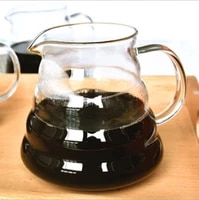 top selling borosilicate glass drip coffee maker glass pour over cone coffee pot without lid