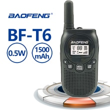 2020 Nieuwe Baofeng BF-T6 Mini Walkie Talkie Speelgoed Gift Kinderen Speelgoed 0.5 W Frs Pmr Uhf 1500 Mah Power Ham radio Amador T6 Hf Transceiver