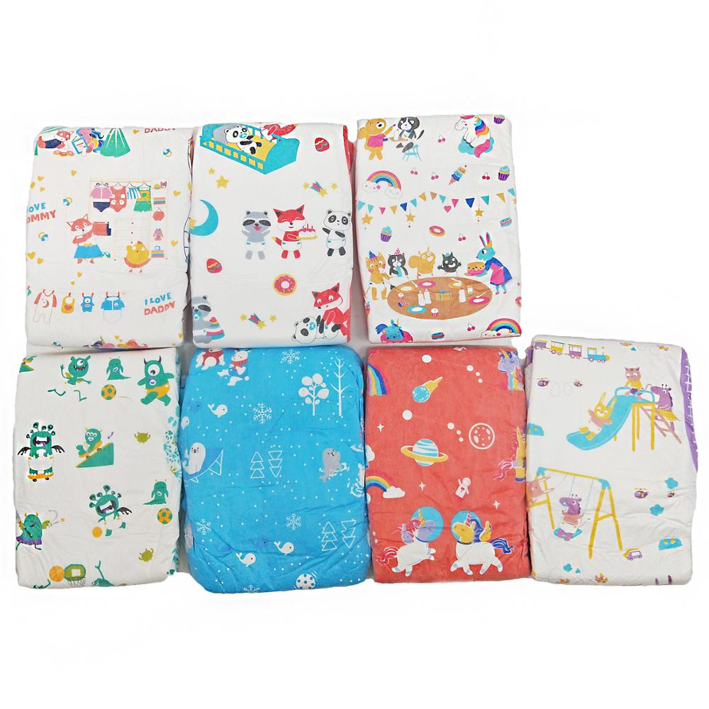 ABDL Diapers 7-piece non-heavy sample Rainbow Week Diapers 7-piece TEN@NIGHT Europe and America  Hot Sale 6000ml High Abso