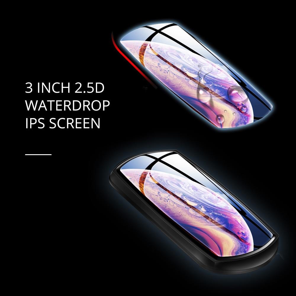 JOHOX-11 traço cam 3 polegada 2.5d ips tela completa hd1080p câmera do carro dvr lente dupla visão noturna 24 h estacionamento monitor dashcam gps