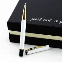 quality white gold clipmetal roller ball pen 0 5mm nib office stationery luxury writing ball pens gift