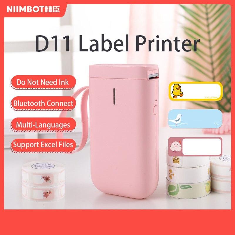 Беспроводной принтер для этикеток Niimbot D11/D61 Bluetooth Термопринтер для этикеток портативный карманный принтер для этикеток быстрая печать прос...