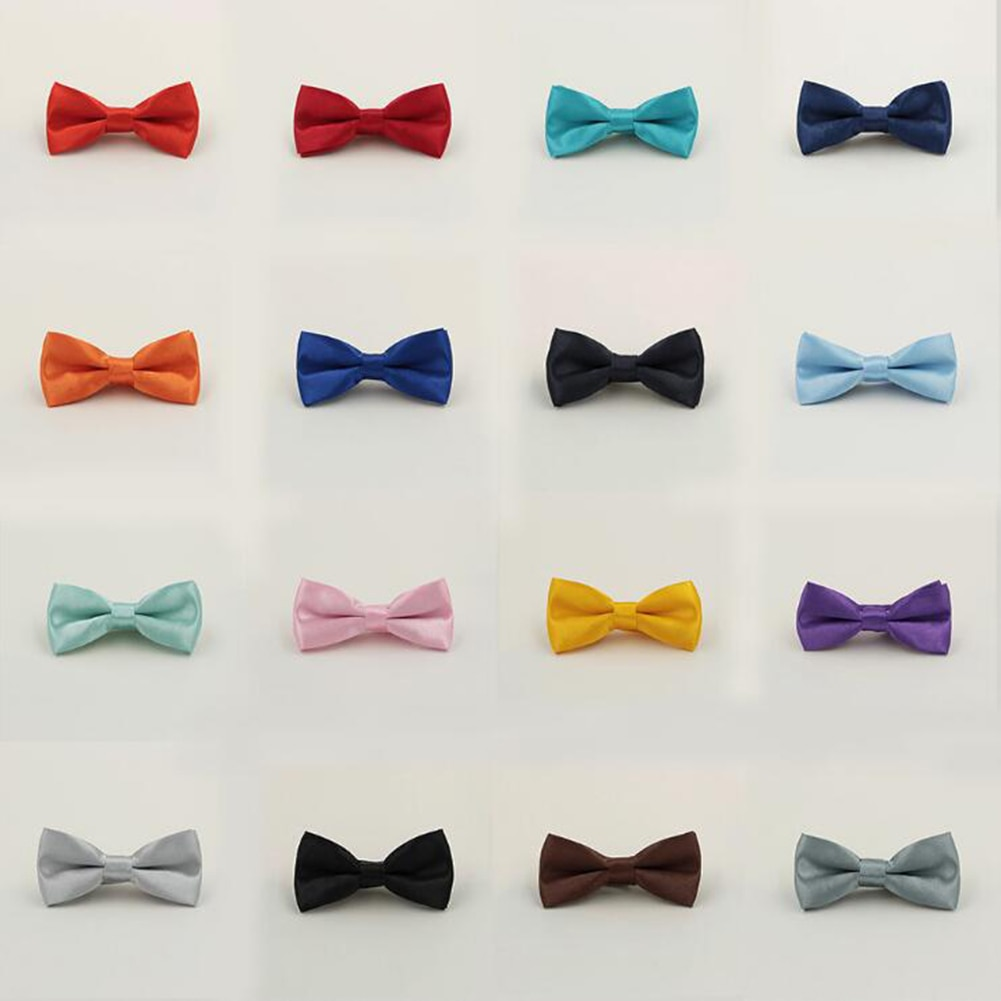 Boy New Good Quality Bowtie For Men Banquet Wedding Party Kids Adjustable bow tie Butterfly Knot Bla
