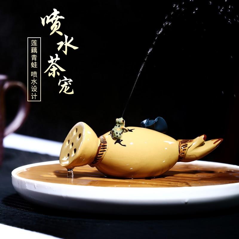 ★صحيح المياه لوتس الجذر الأرجواني الرمال الشاي الحيوانات الأليفة تأثيث المواد تأثيث المواد الشاي إلى الشاي أطقم شاي الشاي اللعب