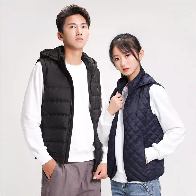 Youpin PMA Graphene Heating Vests Down Jacket Men Women Thermal Clothing Waistcoat  Jacket For Outdoor Sports Winter Coat enlarge