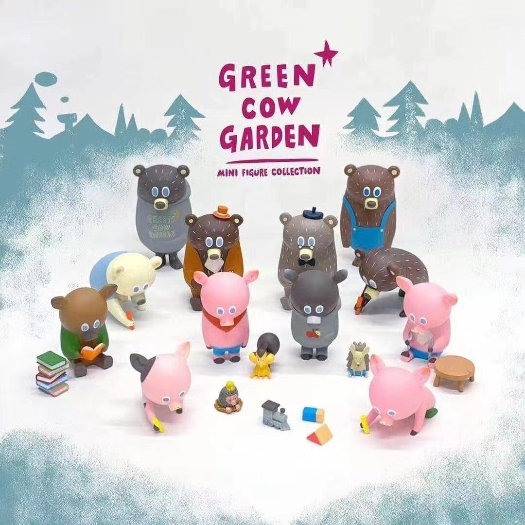 Blind Box Toys Figure Original Mini Bear and Mini Pig 13Style Random Surprise Anime Model Guess PVC Figurine Doll 12Pcs/Set