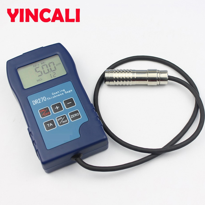 Newly Digital Paint Coating Thickness Gauge DR270 Plastic FIlm Coating Thickness Tester using eddy current thickness method