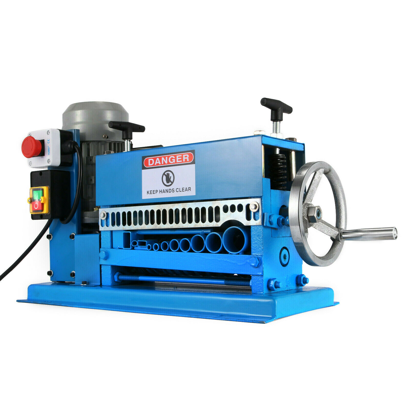 آلة تجريد الأسلاك الكهربائية 370 واط ، 10 شفرات ، متجرد النحاس 220 فولت