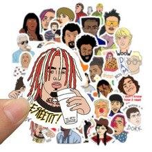 50 Pcs Hip Hop Rapper Dj Graffiti Stijl Stickers Op Mobiele Telefoon Laptop Bagage Koffer Gitaar Case Skateboard Fiets Stickers