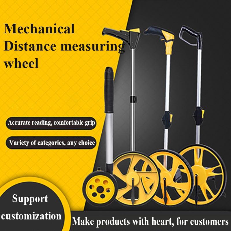 Free Shipping Handheld Wheel Range Finder Foldable Digital Display Mechanical Measuring Wheel Distance Measure Mechanical Wheel