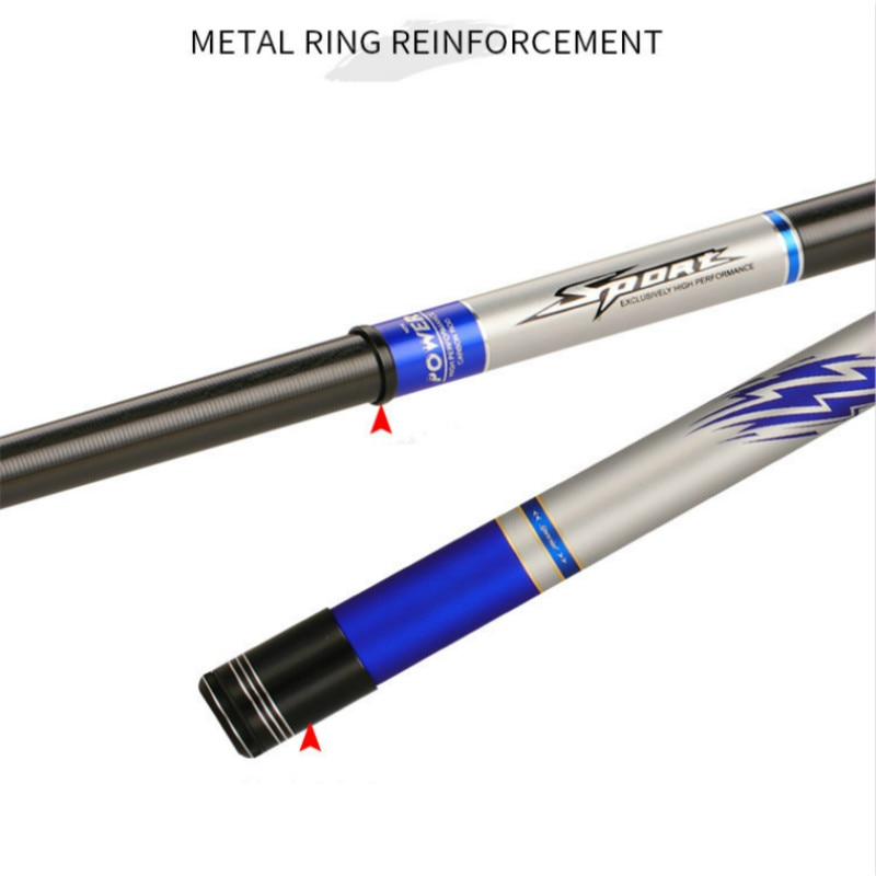 4.5m -10m Power Hand Rod 19 Tonalty 12H Super Hard Distance Throwing Poles Super Light Carp Feeder and Squid Fishing Peche Pesca enlarge