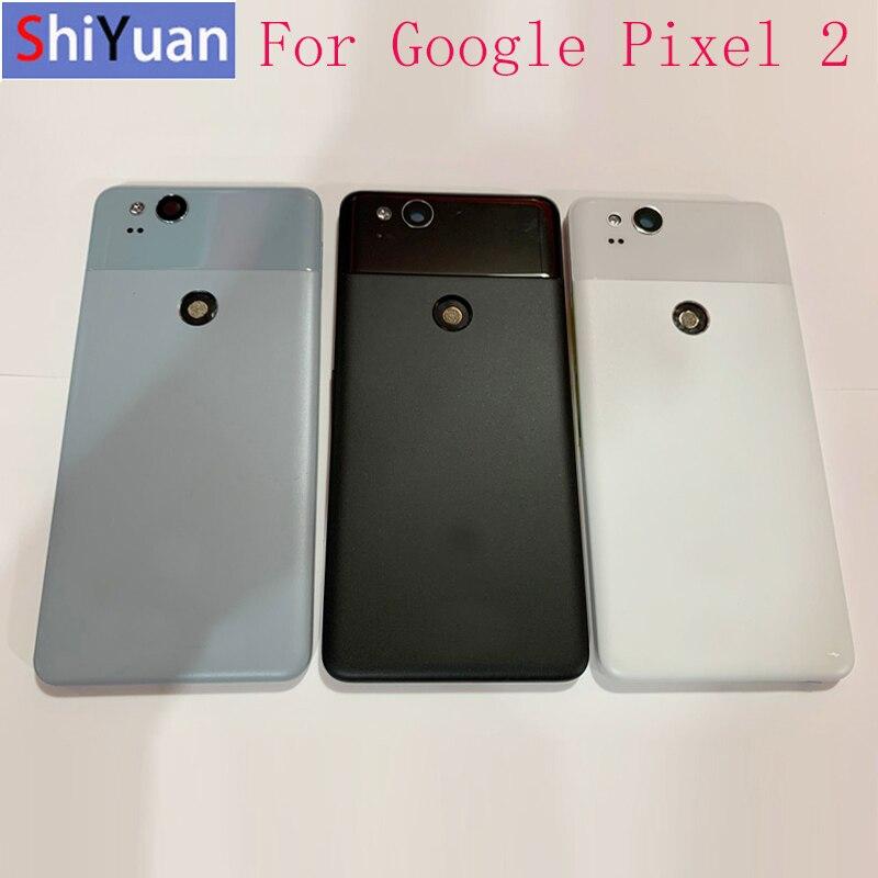 Rear Door Battery Cover With Side Keys+Camera Lens For Google Pixel 2 Pixel 2XL Rear Housing