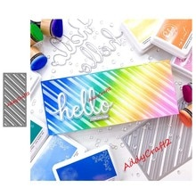 Novo corte de metal dados retangular chanfro molde scrapbook papel ofício faca molde lâmina soco 2020