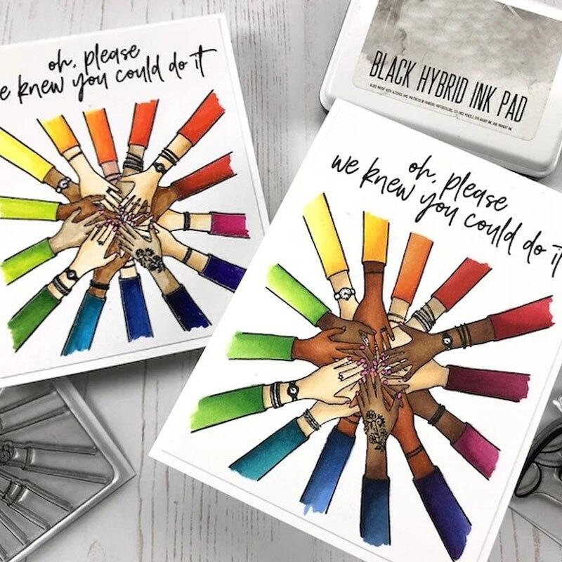 """Mytribal, """"We Know You Could Do It"""", sello transparente de silicona para álbum de recortes, artesanía DIY, sello suave de decoración, 2020 nuevo"""