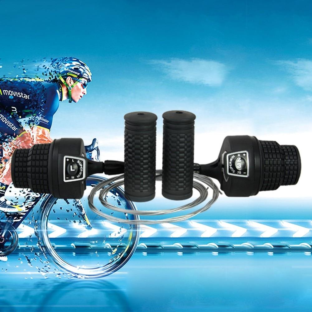 MTB Mountain Bike Cycle 3x7 Speed Gear Handlebar Shifter + Grips Lightweight Flexible Bicycle Shifter Cycling Bike Parts Access