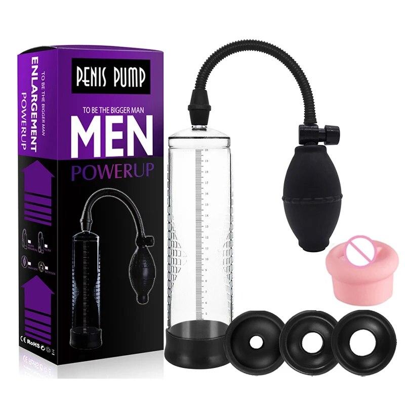 Effective Penis Pump Enlargement Vacuum Dick Extender Men Sex Toy Increase Length Enlarger Male Train Erotic Adult Sexy Product