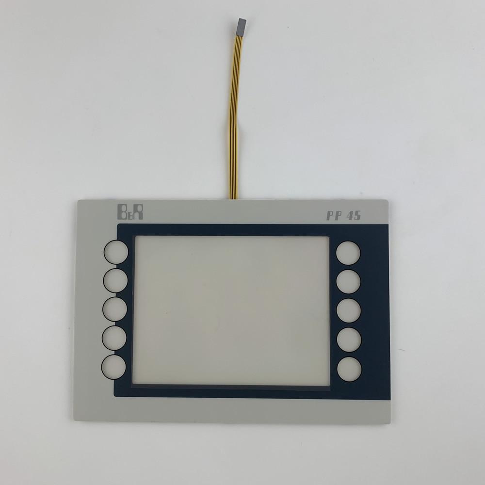 4PP045.0571-K24 PP45 شاشة تعمل باللمس مع تراكب (طبقة رقيقة واقية) لإصلاح B & R لوحة الطاقة ، لديها في الأوراق المالية