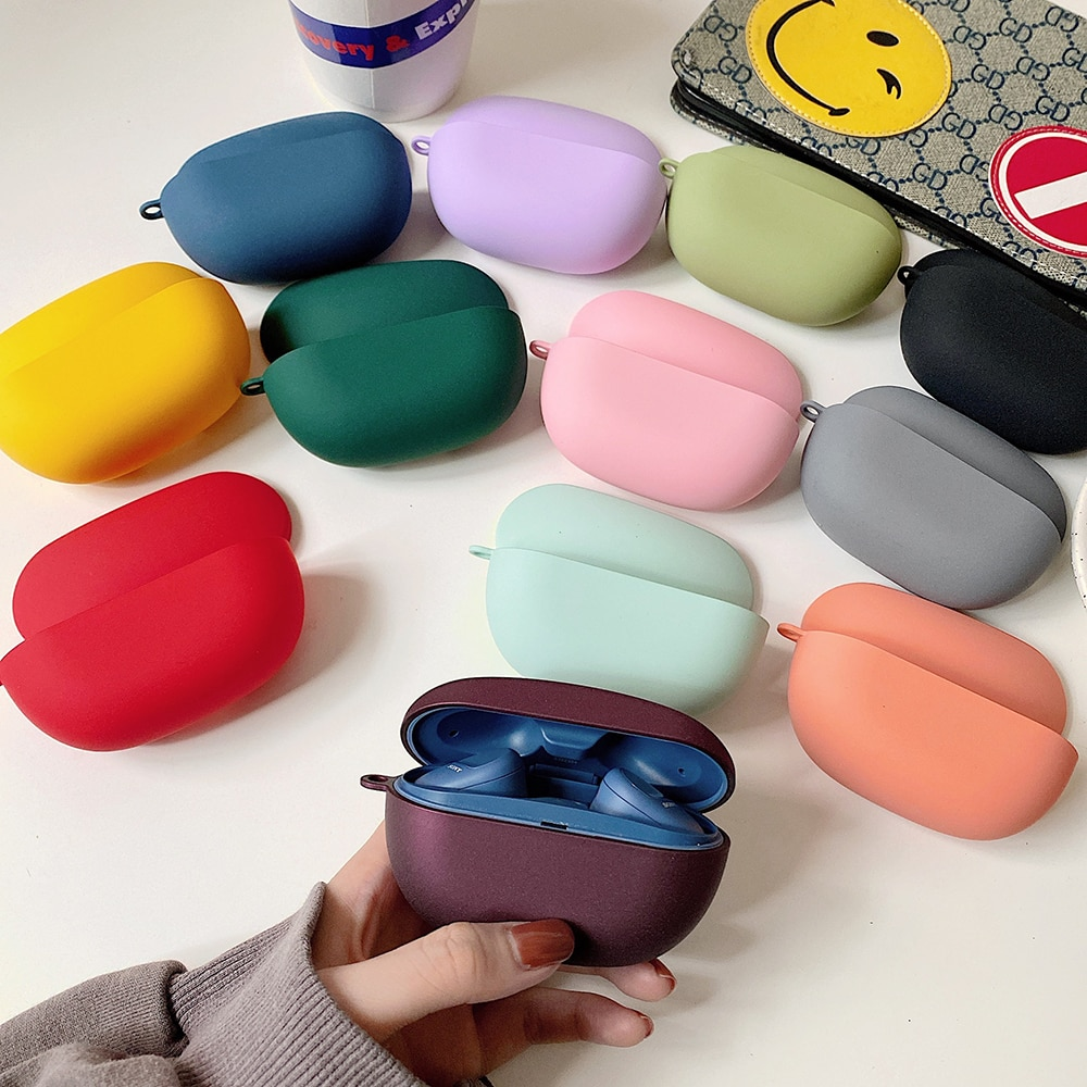 Earphone Accessories Charging Box Coque Cover Case For  Hard Shell with Anti-lost Hook