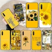 aesthetic yellow sunflower customer high quality phone case for xiaomi mi10 10pro 10 lite mi9 9se 8se pocophone f1 mi8 lite