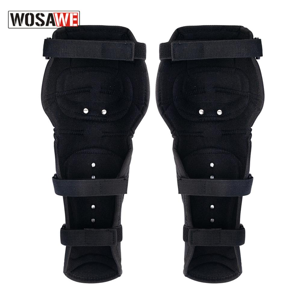 WOSAWE Motorcycle Knee Guard Motorbike Knee Guard Protective Guard Gear MTB Knee Protector Motocross Stainless Steel Kneepads enlarge