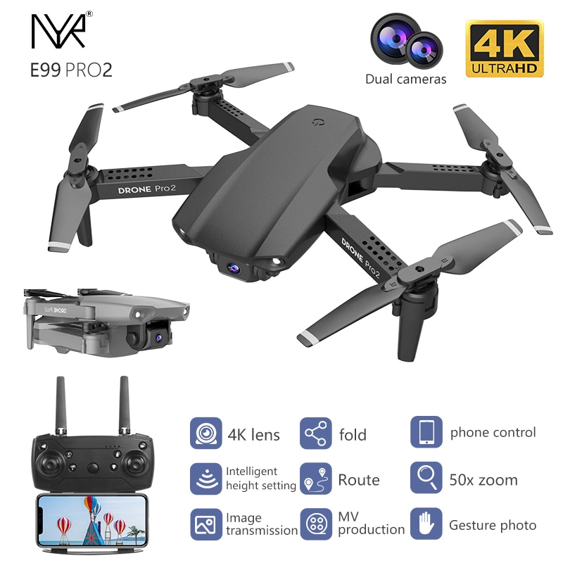 NYR E99 Pro2 RC Mini Drone 4K 1080P 720P Dual Camera WIFI FPV Aerial Photography Helicopter Foldable