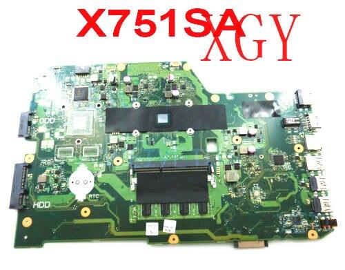 X751SA 4GB RAM N3700 CPU اللوحة ل ASUS X751S X751SJ X751 DDR3LMainboard 100% اختبار موافق
