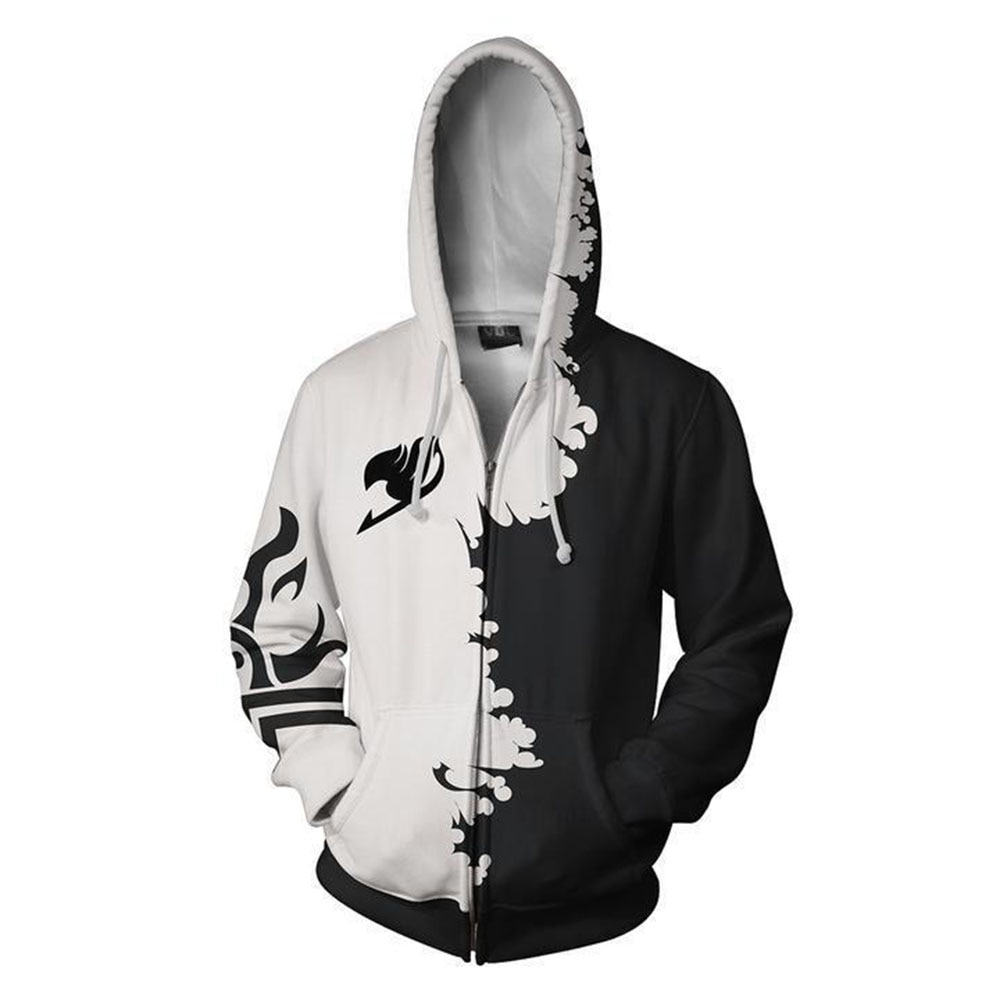 Comercio exterior nuevo estilo fairy tail Series 3d hoodie cardigan Sudadera con capucha cosplay periférico de animé