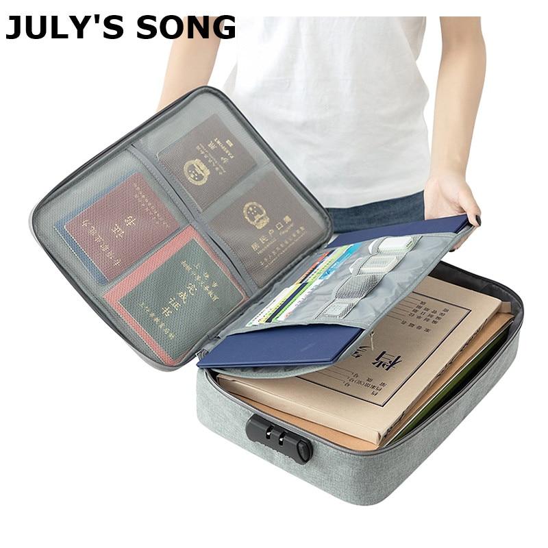 Bolsa de almacenamiento multifunción para documentos, organizador de licencia de datos del hogar, impermeable, Portables, accesorios para maletas