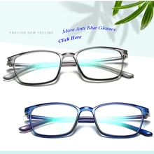 Square Elastic Light TR90 Computer Anti Blue Light Blocking Glasses Women Men