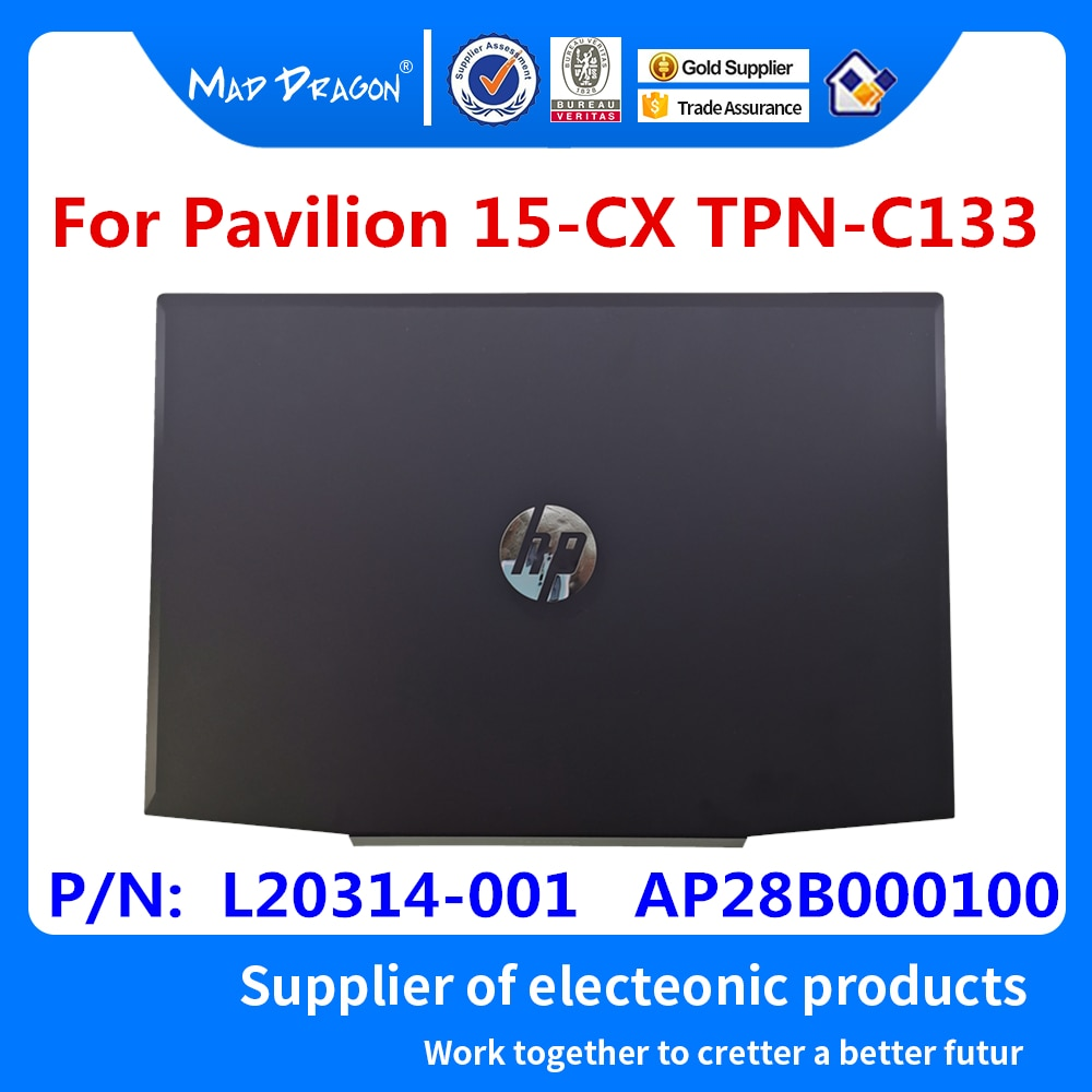 Nuevo para HP Pavilion 15-CX Series Laptop LCD contraportada/LCD bisel frontal/LCD bisagras/palmest carcasa superior/carcasa inferior L20314-001