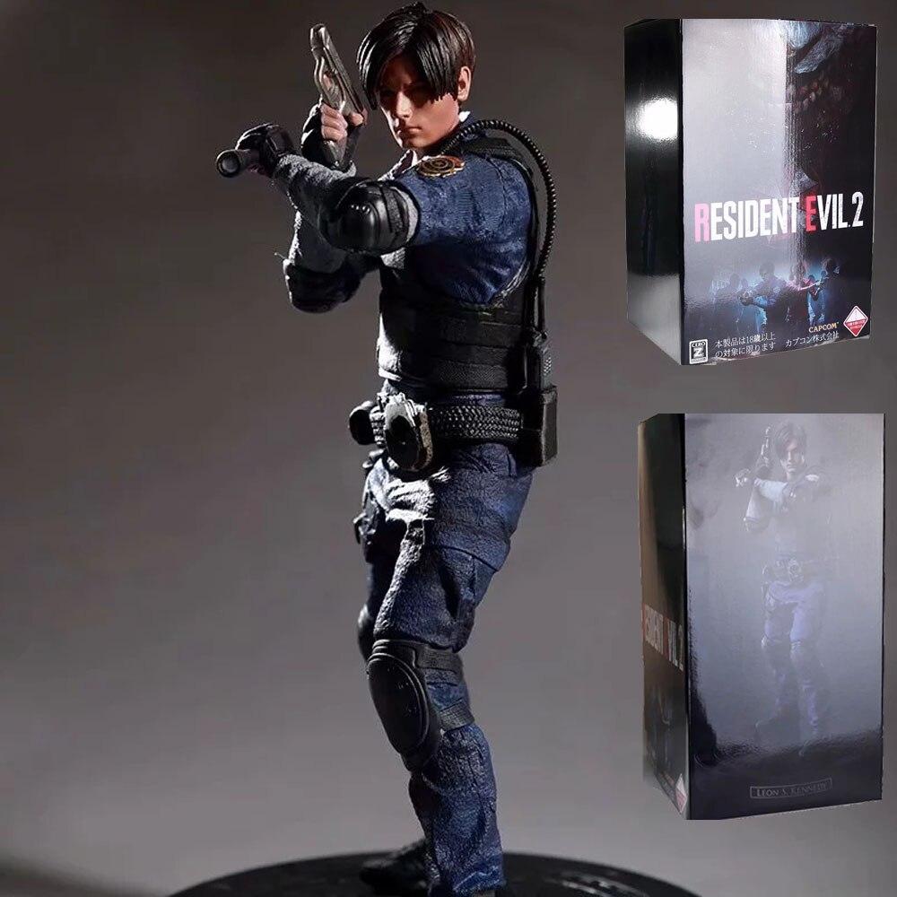 Figura de acción del personaje Leon Scott Kennedy, modelo coleccionable, muñecos