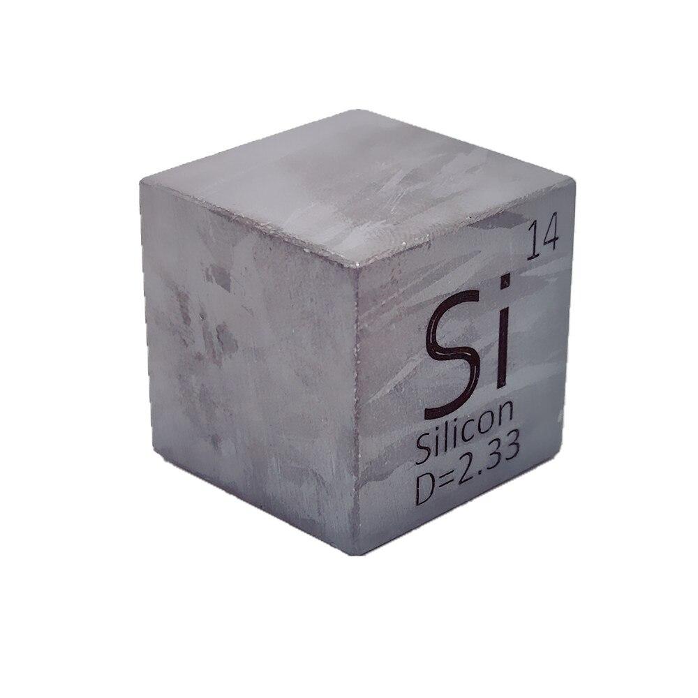 25.4 مللي متر مكعب السيليكون المعدني 1 بوصة كثافة مكعب 99.9999% النقي لجمع العناصر