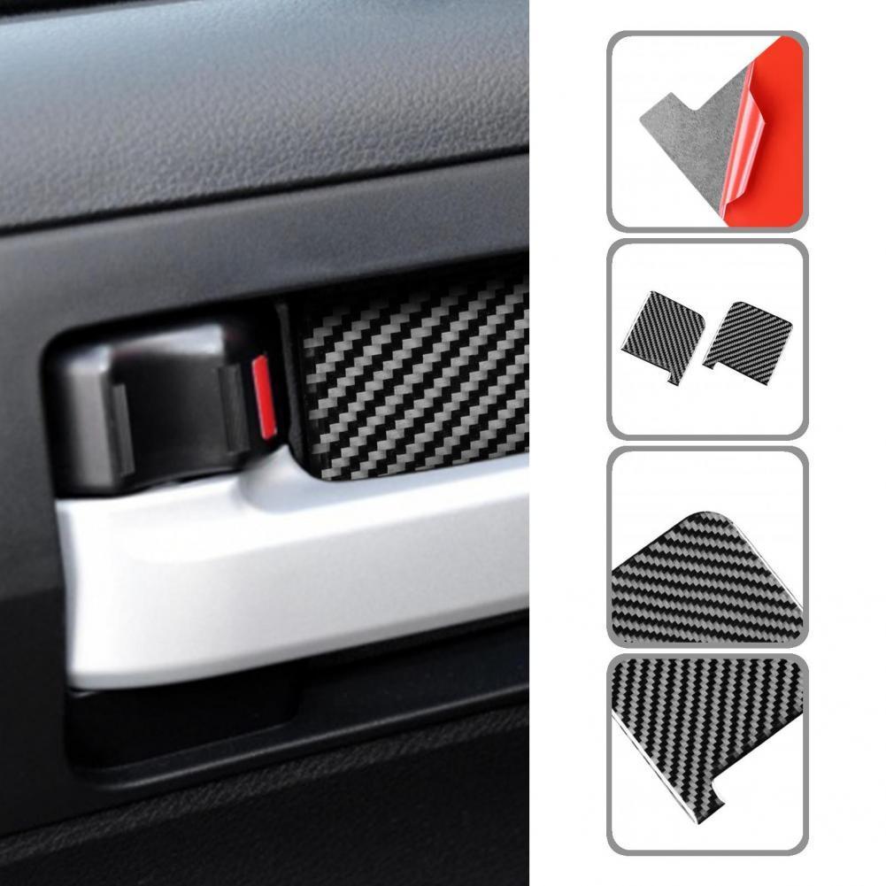 Прочные 4 шт. глянцевые автомобильные наклейки на внутреннюю дверную ручку, панель с чашей, отличная термостойкая наклейка на панель