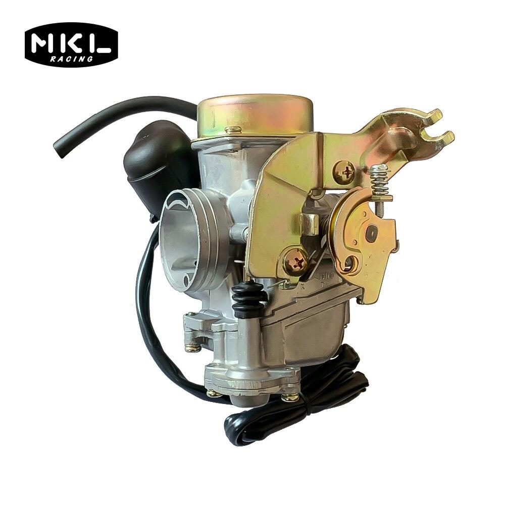 Cvk24 24.5mm carb motocicleta carburador eletrônico choke gy6 100 125 150cc scooter atv quads buggy substituir keihin