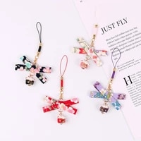 lucky cat bell mobile phone straps lanyards cute cat u disk mobile phone earphone accessories