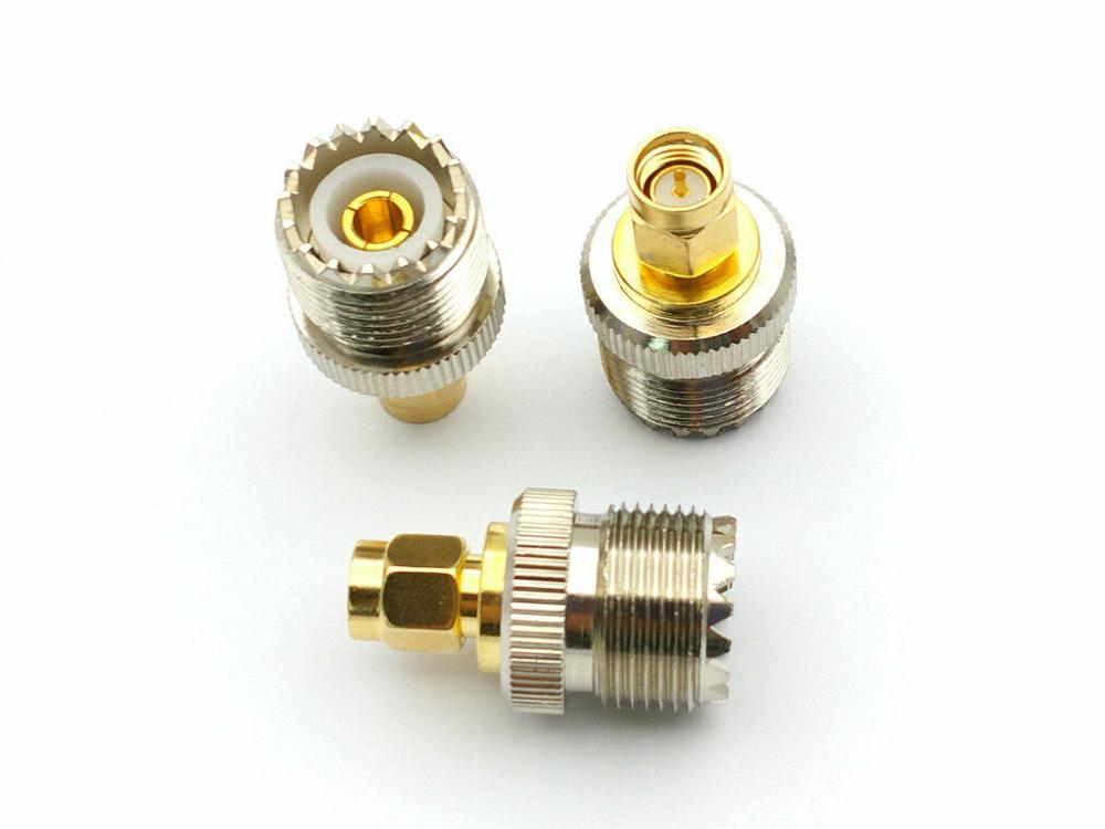 500 قطعة موصل UHF نحاس SO239 مقبس أنثى إلى SMA محول ذكر RF