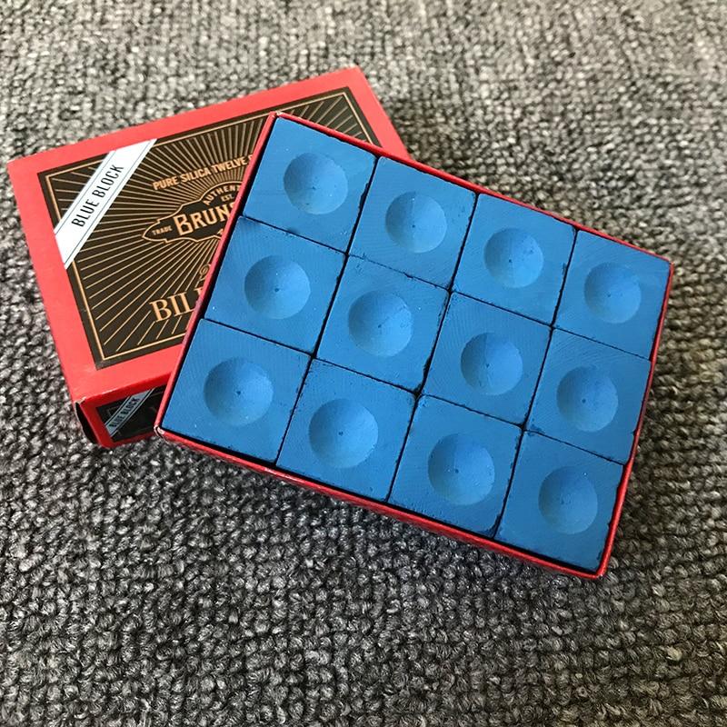 12pcs Billiard Chalk Snooker Billiard Game Cue Tip Cue Stick Billiard Accessories Blue Cue Chalk