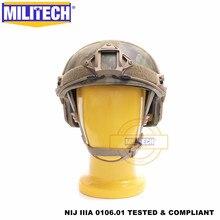 Casque aramide balistique coupe haute   Certifié ISO, militaire Atacs FG de luxe, NIJ niveau IIIA 3A, casque avec 5 ans de garantie