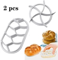 ibows bread dough press molds for diy plastic molds kitchen baking fondant cake biscuit embossing abrasive round oval tool 2pcs