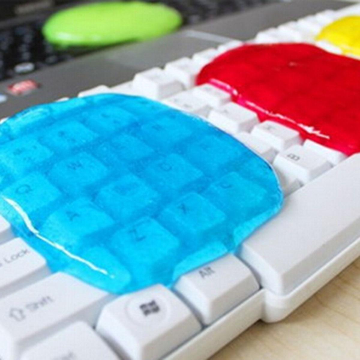 Líquido de Limpeza Gel para Telefone Mágico Composto Super Limpo Slijmerige Portátil Computador Toetsenbord 10 Pçs pó