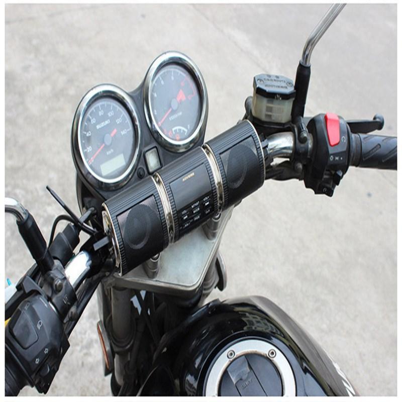 دراجة نارية في الهواء الطلق بلوتوث الصوت مع راديو مقاوم للماء الكل في واحد مضخم صوت تعديل سيارة كهربائية دراجة نارية Mp3