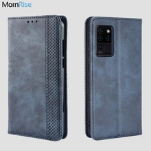 For Oukitel C21 / C21 Pro Case Book Wallet Vintage Magnetic Leather Flip Cover Card Stand Soft Cover
