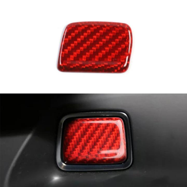 Calcomanías de cubierta de botón de arranque de motor de un botón para Chevrolet Camaro 2016 + pegatinas de fibra de carbono interior de coche accesorios